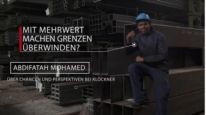 Abdifatah M  Omar, Auszubildender Fachlagerist
