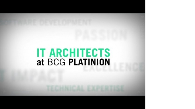 BCG Platinion: Being an IT Architect.