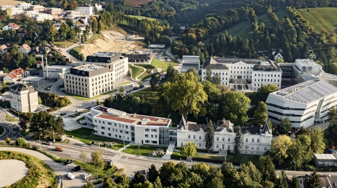 IST Austria campus from the sky