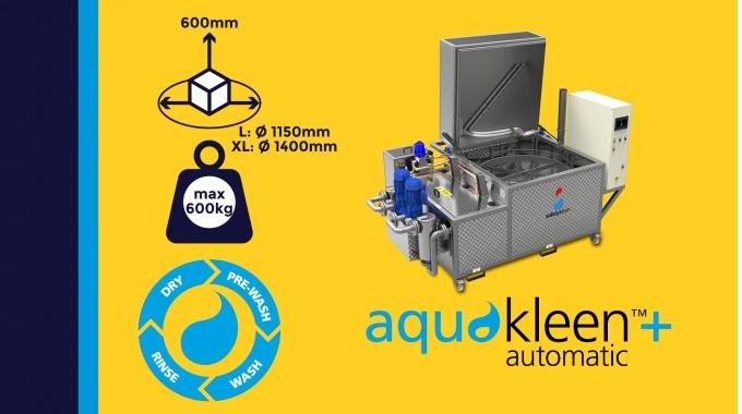 """""""Aquakleen automatic+"""" -  Toplader-Reinigungsanlage in 2-Tank-Ausführung"""