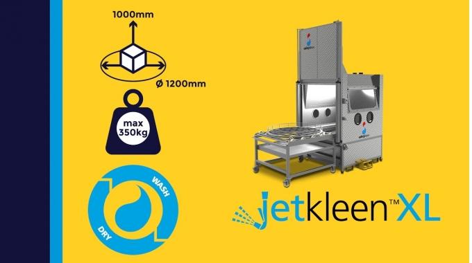 """""""JetkleenXL"""" - Hochdruckreinigungskabine in Frontlader-Ausführung für Kranbeladung"""