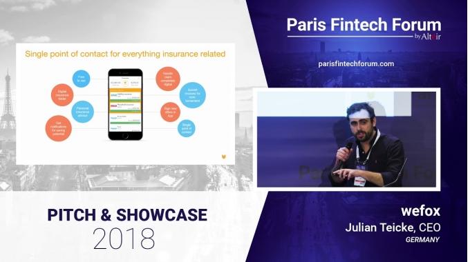 Pitch - wefox - Julian Teicke - CEO - Paris Fintech Forum 2018