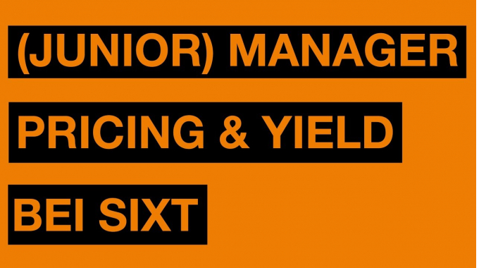 (Junior) Manager Pricing & Yield (m/w) bei Sixt