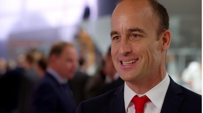 Swisslog & KUKA Future Ready Logistics Automation: Dr. Christian Baur at HMI Hannover ...