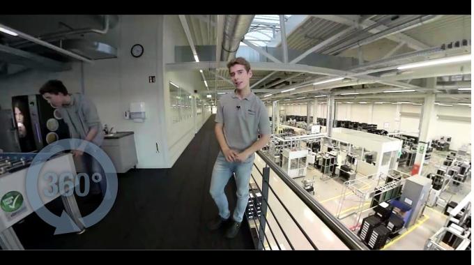 360°-Rundgang - Ausbildung bei ebm-papst