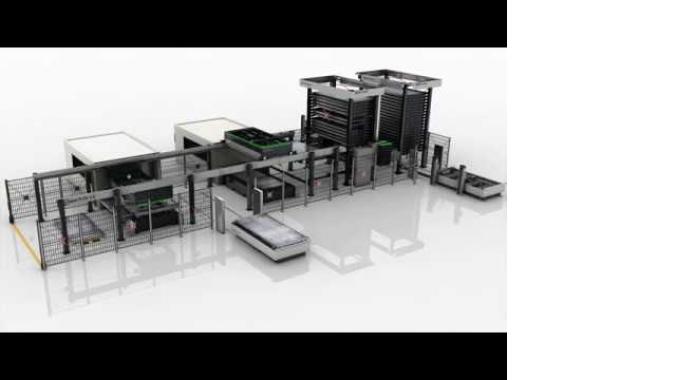 LaserFLEX Doppelturm BASIC Tower mit 2 Lasern -  we make material flow
