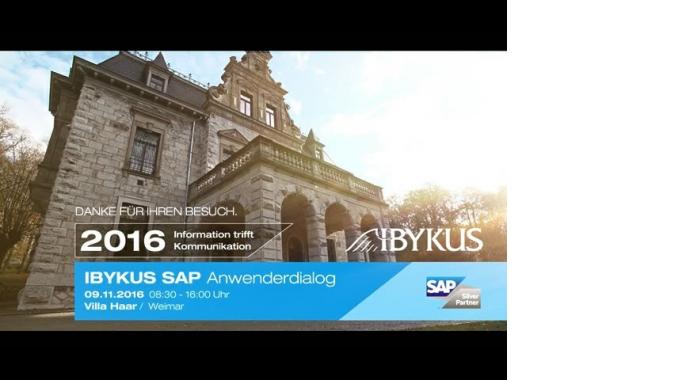 IBYKUS SAP Anwenderdialog - 09.11.2016