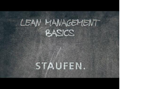 Lean Management Basics - Web Based Training of the Staufen AG Akademie