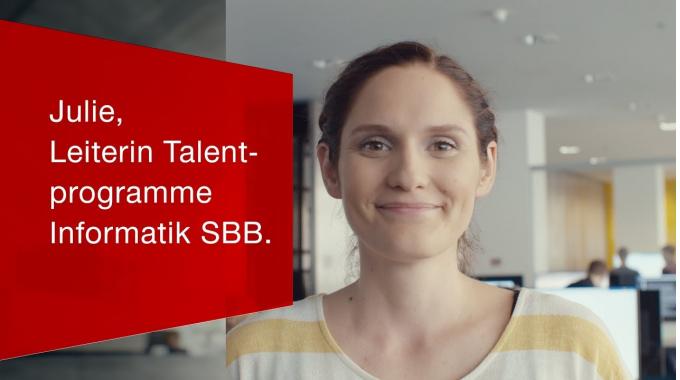 Julie, Leiterin Talentprogramme Informatik SBB.