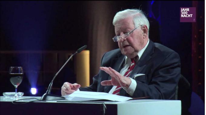 Helmut Schmidt bei der Jahr100Nacht