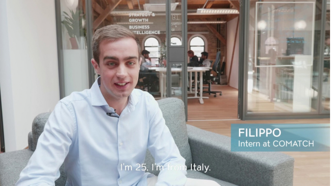 How is it to be an intern at COMATCH, Filippo?