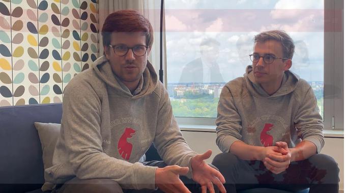 """Unsere Wissenschaftlichen Mitarbeiter Peter und Stephan stellen ihr Tool """"Take a Seat"""" vor..."""