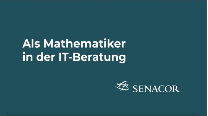 Als Mathematiker bei Senacor
