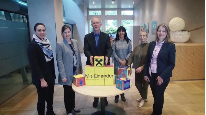 Das Team des Personalmanagements der Raiffeisenlandesbank Vorarlberg
