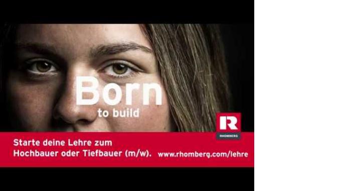 Born to build: Starte deine Lehre zum Maurer oder Tiefbauer (m/w).