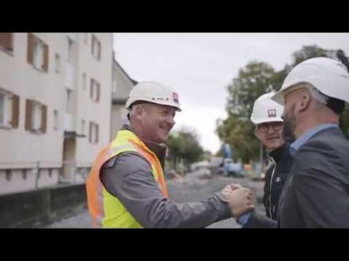 Auf Baustellentour mit der Rhomberg Geschäftsleitung