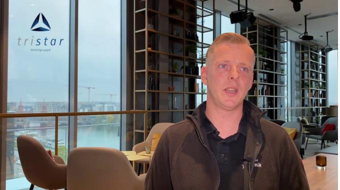 David, Haustechniker bei der tristar GmbH