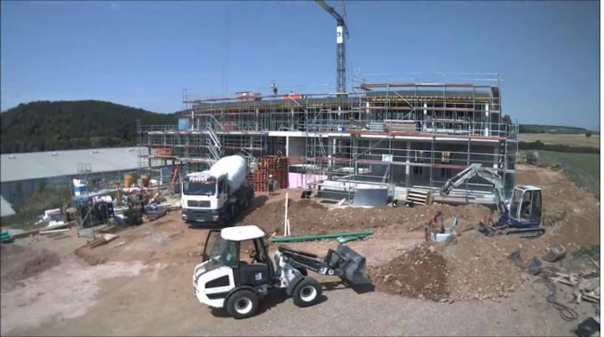 Ein neues Bürogebäude entsteht: Microtech in Hargesheim