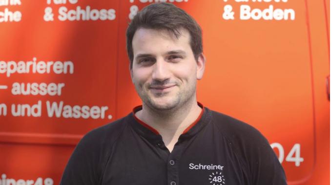 Schreiner48 als Arbeitgeber   Ein Tag im Leben von Schreiner Andreas Aeberhard