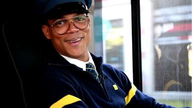 Busfahrer im Portrait