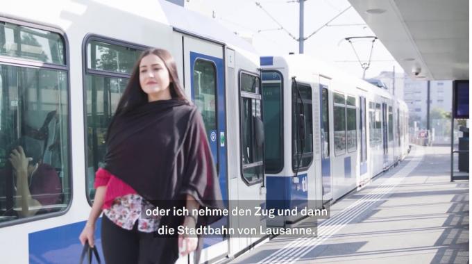 Mitarbeiterin Kundenservice: Gülistans Arbeitstag in Lausanne