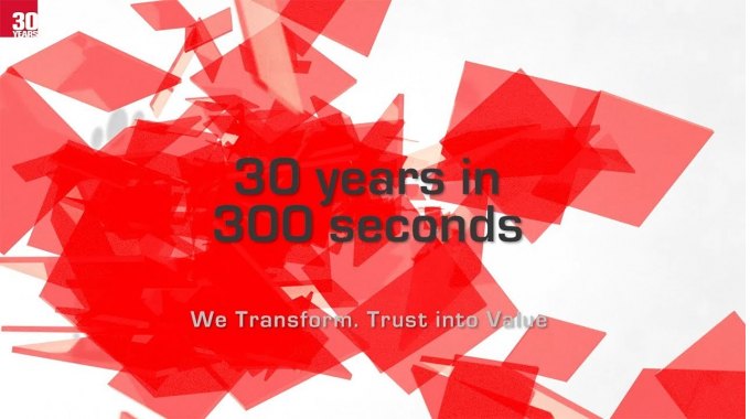 30 years in 300 seconds