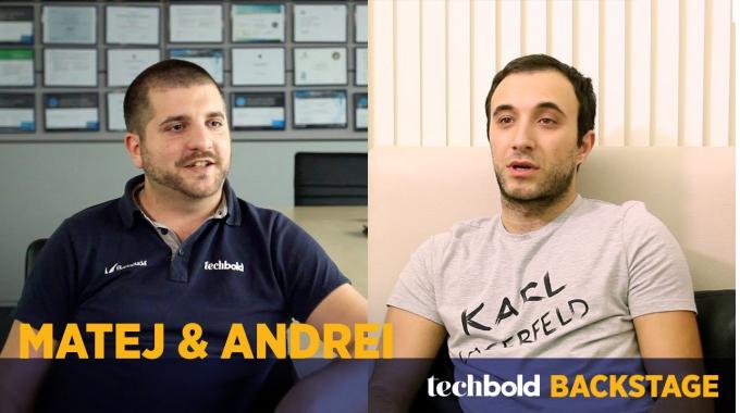Matej, Support Enginner & Andrei, Developer