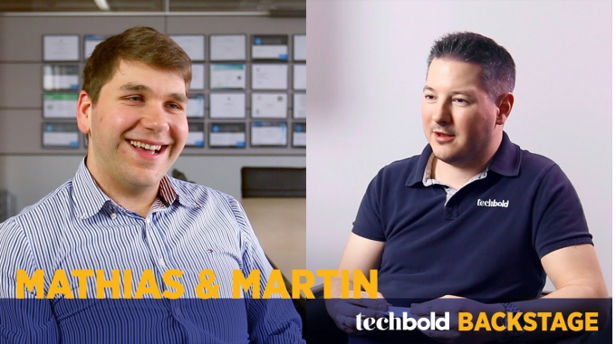 Mathias, CTO & Martin, Sales Manager