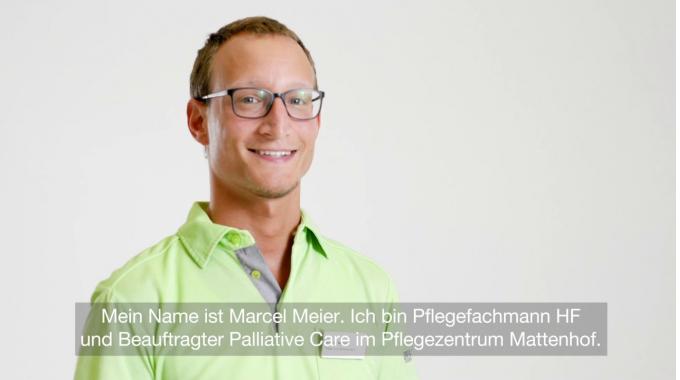 Marcel Meier, Pflegefachmann HF und Beauftragter Palliative Care im Pflegezentrum ...