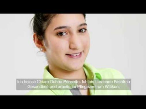 Chiara Ochoa Possetto, Lernende Fachfrau Gesundheit im Pflegezentrum Witikon