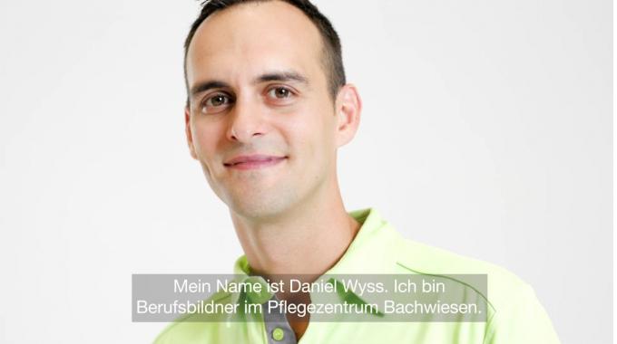 Daniel Wyss, Berufsbildner und Studierender Pflege HF im Pflegezentrum Bachwiesen