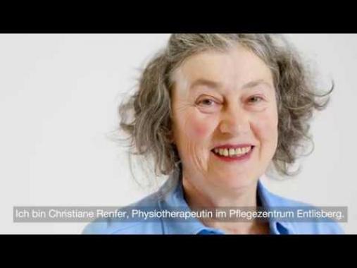 Christiane Renfer, Physiotherapeutin im Pflegezentrum Entlisberg
