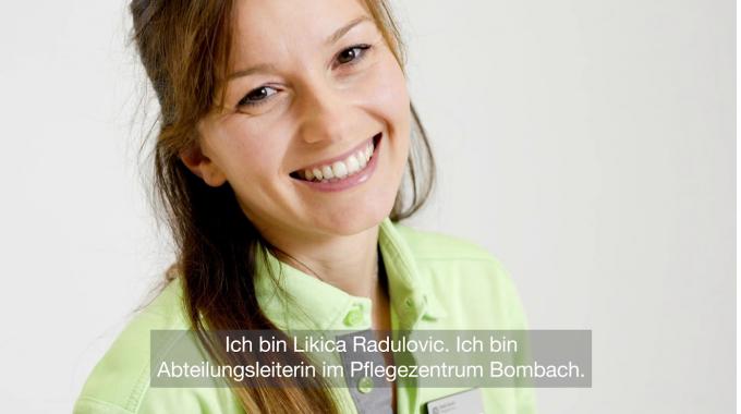 Likica Radulovic, Abteilungsleiterin im Pflegezentrum Bombach