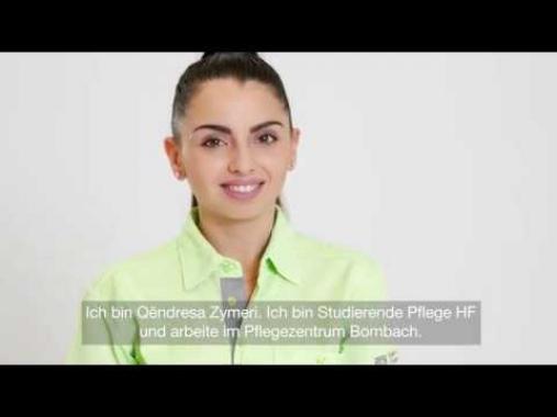 Qëndresa Zymeri, Fachfrau Gesundheit und Studierende Pflege HF im Pflegezentrum Bombach