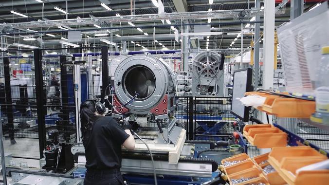 Produktion Electrolux Professional Waschmaschinen - Ljungby, Schweden