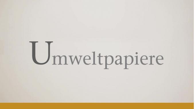 """Inapa Deutschland Papierlexikon - """"U"""" wie """"Umweltpapiere"""""""