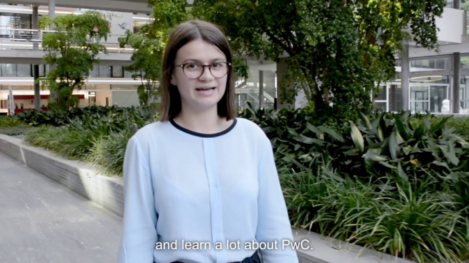 Selina about her apprenticeship at PwC