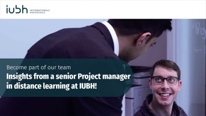 Insights from a senior Project manager in distance learning at IUBH!