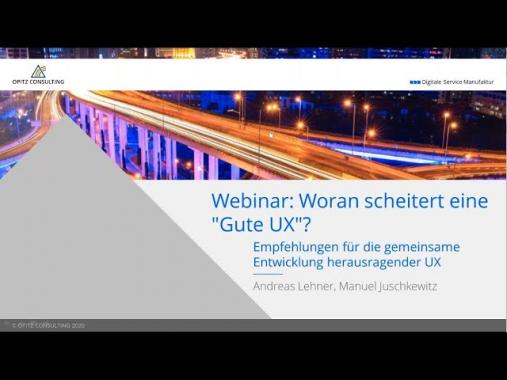 OC|Webcast:  Woran scheitert eine gute UX?