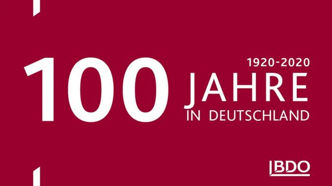 100 Jahre BDO in Deutschland