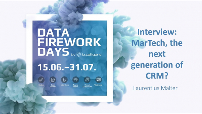 Interview: Let's talk about MarTech, the next generation of CRM #DataFireworkDays
