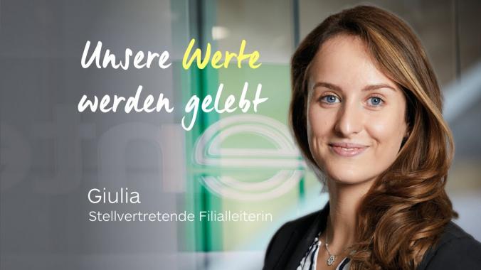Unsere Unternehmenswerte werden gelebt  Giulia  Enterprise Jobs und Karriere
