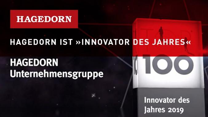 Hagedorn als TOP »Innovator des Jahres« ausgezeichnet