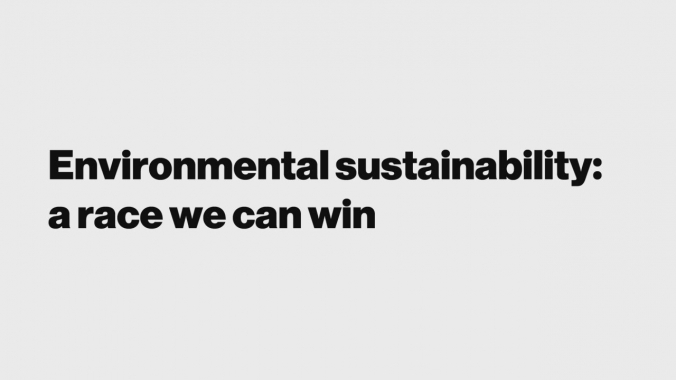 Environmental sustainability: a race we can win
