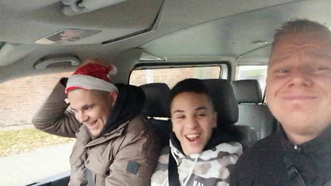 singers of christmas - die Jugendlichen und unser Kollege aus der therapeutischen WG ...