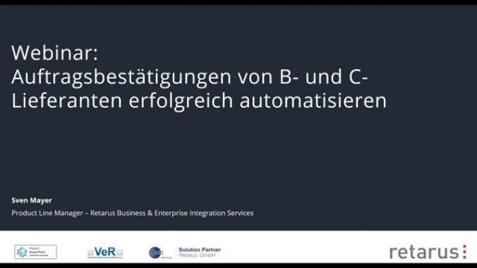 Retarus Webinar - Auftragsbestätigungen von B- und C-Lieferanten erfolgreich ...