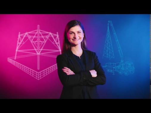 Arbeiten bei Amprion: Jasmin Scheve plant Leitungsbaumaßnahmen