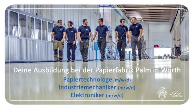 Ausbildung bei der Papierfabrik Palm in Wörth am Rhein