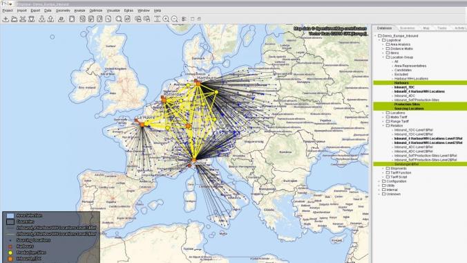 Optimierung logistischer Netze: Beschaffungslogistik zur Versorgung von ...