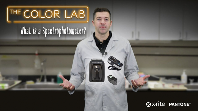 What is a Spectrophotometer?   The X-Rite Color Lab #2